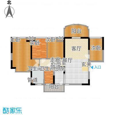 星城国际花园四期95.00㎡星城国际花园四期户型图6栋J2户型4室2厅2卫1厨户型4室2厅2卫1厨