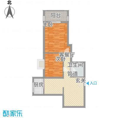 千泓花苑92.29㎡1栋E户型2室2厅1卫