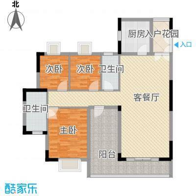 精英世家119.00㎡精英世家户型图7栋标准层01、02单位创意四房户型4室2厅2卫户型4室2厅2卫