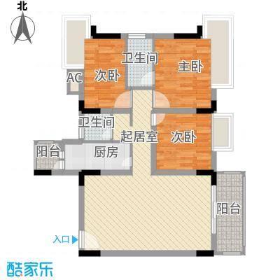 景泰花园97.00㎡景泰花园3室户型3室