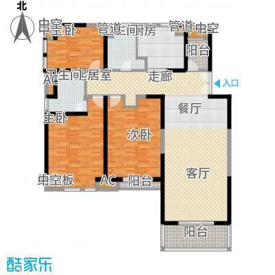 金月湾花园157.00㎡金月湾花园一期3室户型3室