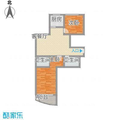 欣中爱丁堡项目96.50㎡欣中爱丁堡项目户型图L户型2室1厅1卫1厨户型2室1厅1卫1厨