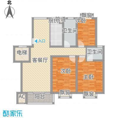 御河苑132.81㎡御河苑户型图3室2厅2卫户型10室