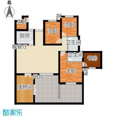 世纪城国际公馆一期142.00㎡世纪城国际公馆5室户型5室