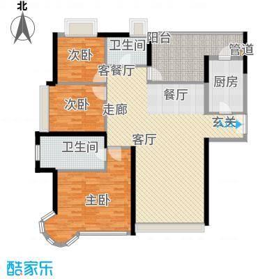 世纪城国际公馆一期159.00㎡世纪城国际公馆3室户型3室