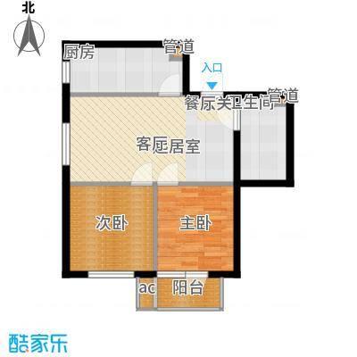 哈佛世纪76.16㎡哈佛世纪户型图1#楼C户型2室2厅1卫1厨户型2室2厅1卫1厨