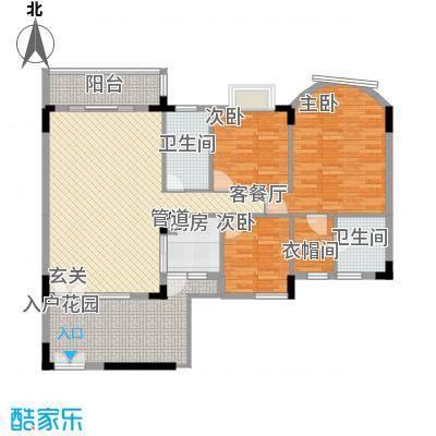 盛世华庭127.98㎡盛世华庭户型图金色盛宴3室2厅2卫户型3室2厅2卫