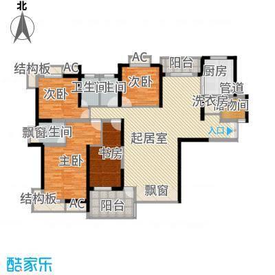 新世纪星城二期184.00㎡新世纪星城二期4室户型4室