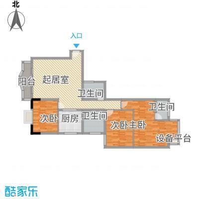 富华新村62.00㎡富华新村2室户型2室