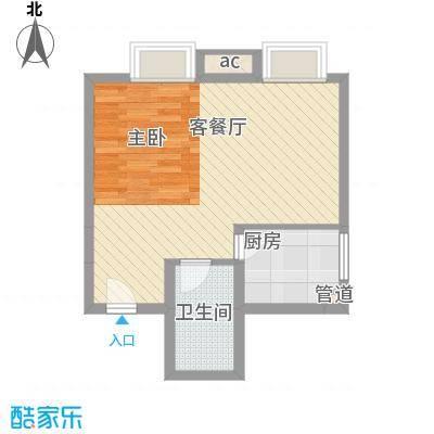 阳光银座57.49㎡阳光银座户型图B座D户型3室户型3室