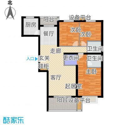 紫云轩142.88㎡紫云轩户型图B3-1户型3室2厅2卫1厨户型3室2厅2卫1厨