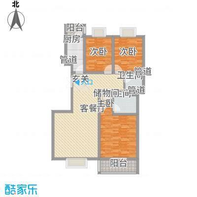 蓝山公馆项目135.79㎡蓝山公馆项目户型图五号楼F5户型3室2厅2卫1厨户型3室2厅2卫1厨