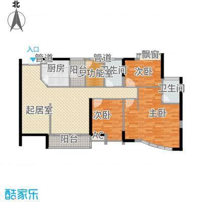 中央公馆蟠龙住宅 3室 户型图