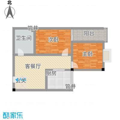 大唐龙庭户型图大唐智能花园三期 2室1厅1卫1厨