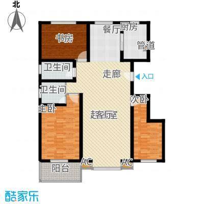 长风・香舍里项目户型图3#E户型 3室2厅2卫1厨