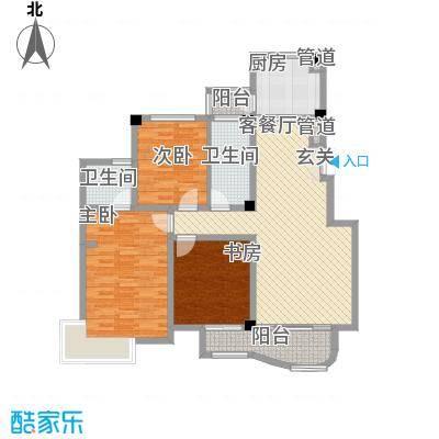 翡翠城户型图C 3室2厅2卫