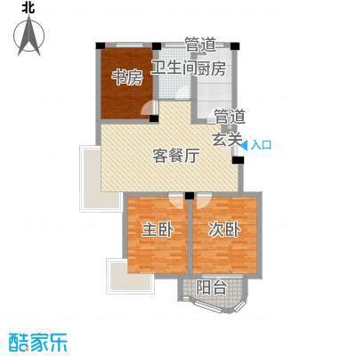 翡翠城户型图A 3室2厅1卫