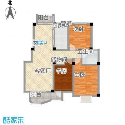 翡翠城户型图B 3室2厅1卫