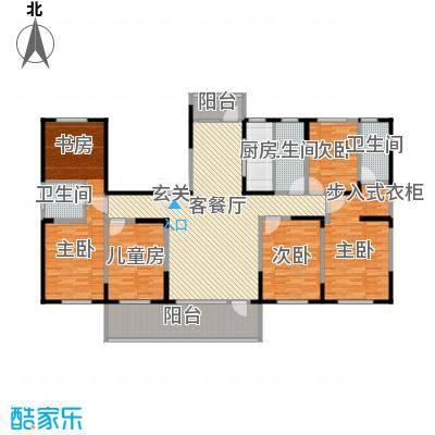 恒通帝景蓝湾215.00㎡C型户型6室2厅3卫1厨