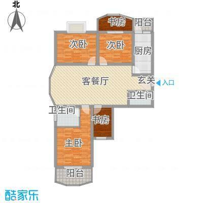 义井佳园琳龙苑135.92㎡D1户型4室2厅2卫