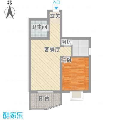 义井佳园琳龙苑68.09㎡D3户型1室2厅1厨