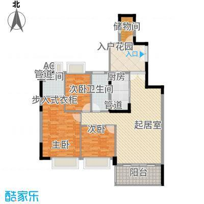 滨江花园129.88㎡滨江花园户型图3栋生活尊品1单元标准层02户型3室2厅2卫户型3室2厅2卫