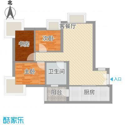 丁香园80.07㎡丁香园户型图G1户型3室2厅2卫1厨户型3室2厅2卫1厨