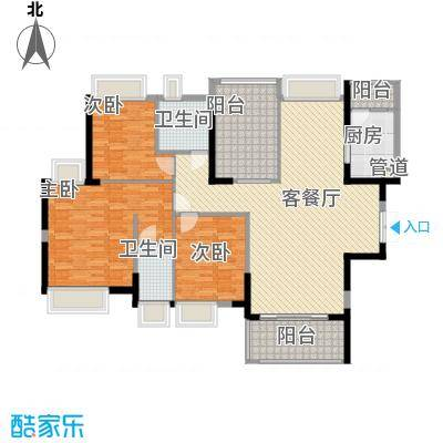 金众金域半山150.00㎡金众金域半山户型图4栋标准层03+04户型4室2厅2卫1厨户型4室2厅2卫1厨