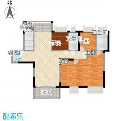 金众金域半山132.00㎡金众金域半山户型图5栋标准层02户型4室2厅2卫1厨户型4室2厅2卫1厨