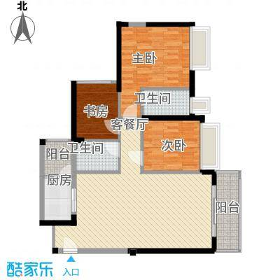 金众金域半山95.00㎡金众金域半山户型图4栋标准层01户型3室2厅2卫1厨户型3室2厅2卫1厨