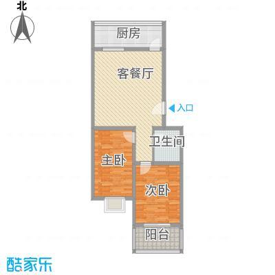 果岭小镇项目88.88㎡果岭小镇项目户型图2-C户型2室1厅1卫1厨户型2室1厅1卫1厨