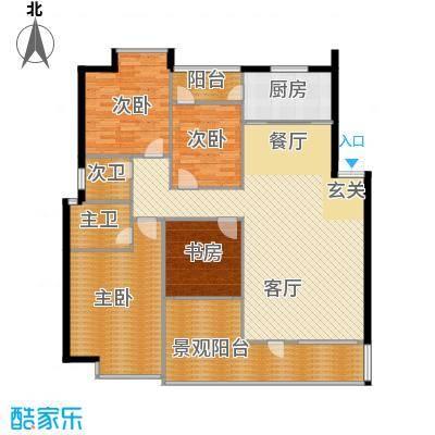 月亮园144.00㎡户型4室1厅1厨