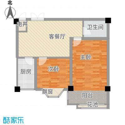 大唐长风一期大唐长风一期户型图2室2厅1卫1厨户型10室