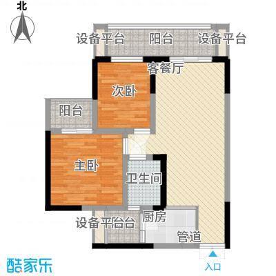 华宇绿洲华宇绿洲二期3室户型3室
