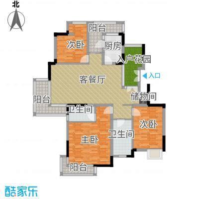 百悦尚城131.76㎡户型3室1厅2卫1厨