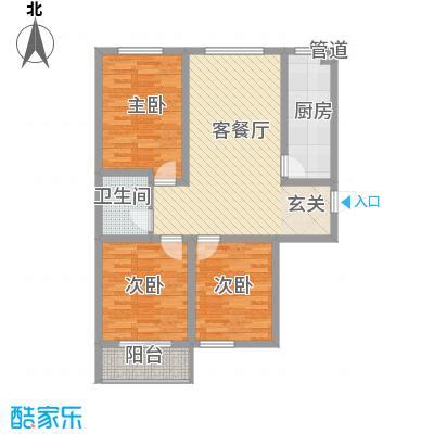 东润国际新城107.83㎡东润国际新城户型图26号楼1-053室2厅1卫1厨户型3室2厅1卫1厨