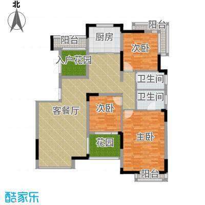 百悦尚城138.34㎡户型3室1厅2卫1厨