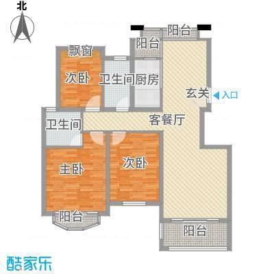 坞城世纪花园140.00㎡坞城世纪花苑3室户型3室