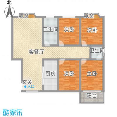 坞城世纪花园158.00㎡坞城世纪花苑4室户型4室
