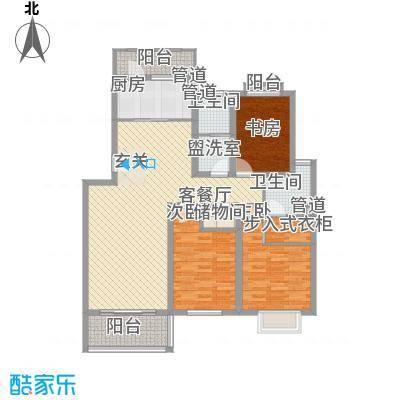 金座领海世嘉140.24㎡一梯两户布局户型3室2厅2卫1厨