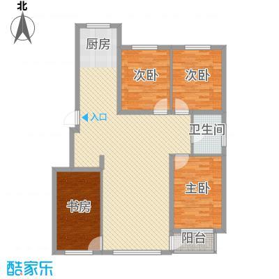 城润万家120.31㎡F10#楼B户型4室2厅1卫1厨