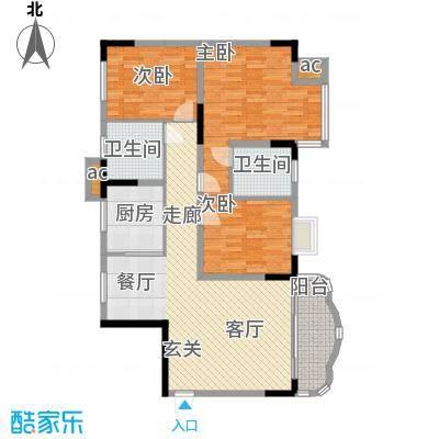大朗中心花园128.00㎡大朗中心花园一期3室户型3室