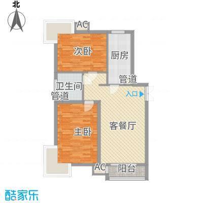 荣御原上园96.49㎡诗意(2号楼G2户型2室2厅1卫1厨