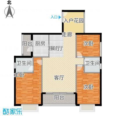 裕华嘉苑137.10㎡D1-03户型3室户型3室2厅2卫1厨