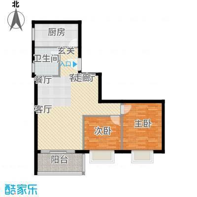 裕华嘉苑81.00㎡C-01户型2室户型2室3厅1卫1厨