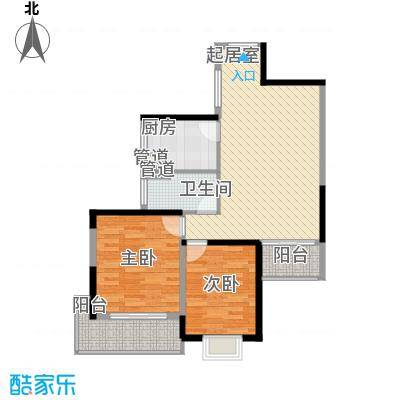 晶城60.00㎡晶城2室户型2室