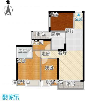 晶城68.00㎡晶城2室户型2室