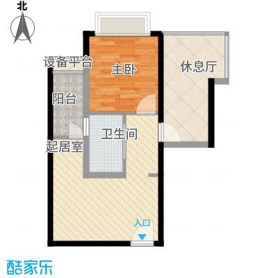 晶城35.00㎡晶城1室户型1室
