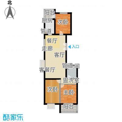 汾河景观360128.95㎡汾河景观360户型图3室2厅1卫户型10室