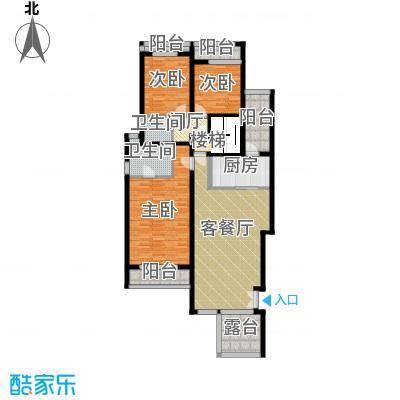 百悦尚城73.00㎡户型3室1厅2卫1厨